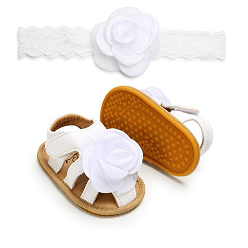 3274fd6d77130 ❤️ Sunbona Baby Girls Kids Toddler First Walkers Kid Shoes Summer Rose Lace  Cuty Fashion With Hairband Flats Sandals