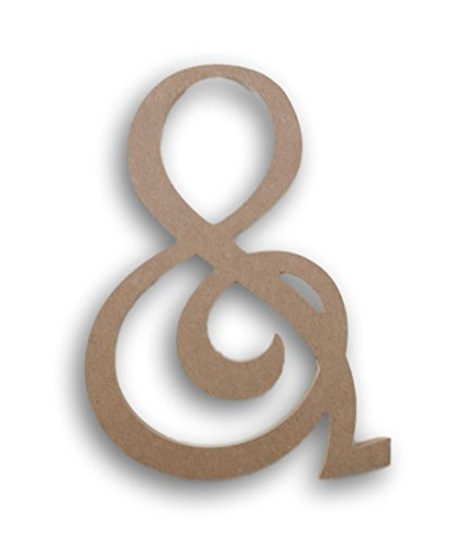 Darice U9190-906-and Mdf 8In. Fancy Script and Sign (Decor Wall Symbol)