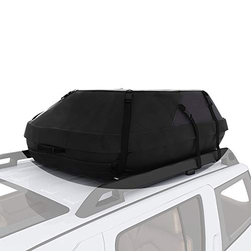 (Oanon 20 Cubic Car Cargo Roof Bag - Waterproof Duty Car Roof Top Carrier - Easy to Install Soft Rooftop Luggage Carriers with Wide Straps 20 Cubic Feet)