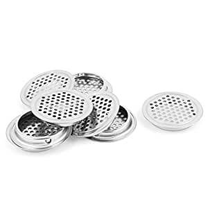 uxcell Mesh Panel Shoes Cabinet Air Vent Louver Cover 53mm Bottom Dia 8pcs