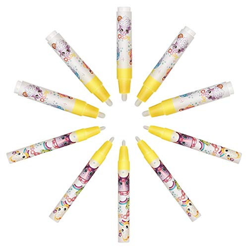 SanGlory 10Pcs Water Drawing Pens,Magic Replacement Water Pens for Kids Drawing Mat/Aqua Doodle Mat/Drawing Board/Writing Sketching Pad