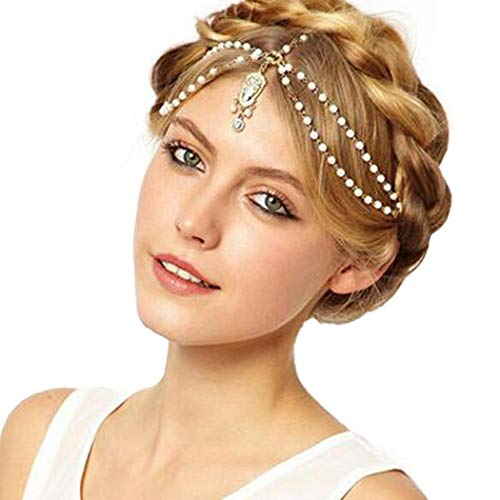 lantusi Women Fashion Retro Gothic Rhinestone Headband Headbands from lantusi