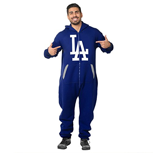 (Los Angeles Dodgers Team Logo Klew Suit - Blue - Small)