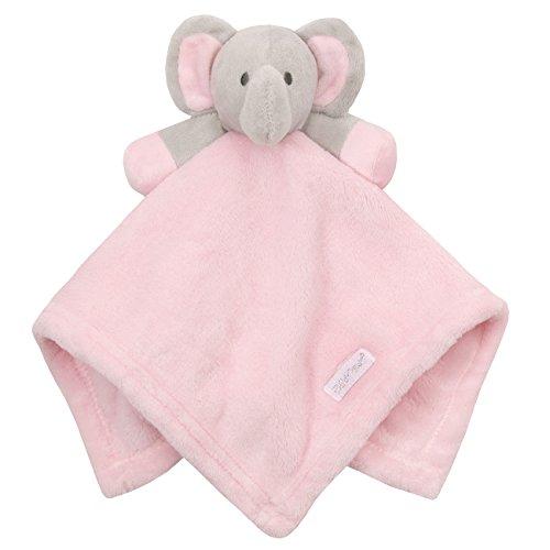 Babytown Baby Boys & Girls Animal Snuggle Comforter Blanket Pink Elephant