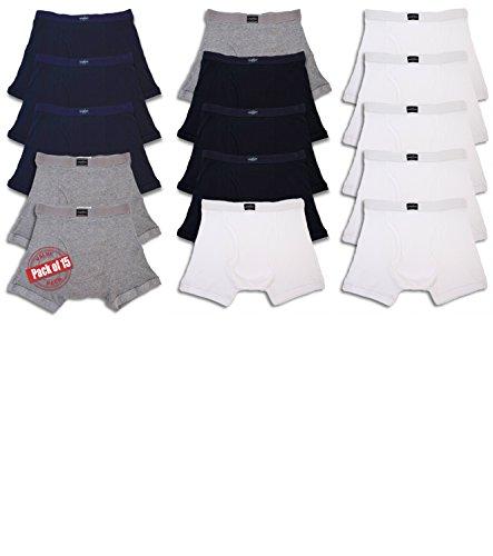 Andrew Scott Men's Bonus Pack of 12 Boxer Brief Trunks (2XL 44-46, Bonus Pack of 15-Black/White/Navy/Grey) by Andrew Scott (Image #1)