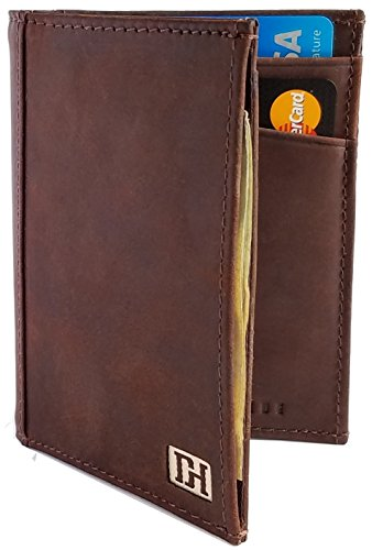 Mens Wallets - Mens Leather Bifold Wallet - Leather Card Holder - Thin Slim Leather Wallets for Men