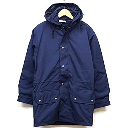 French Navy Lined Polyester Cotton Parka: Navy