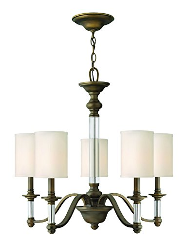 Hinkley 4795EZ Traditional Five Light Chandelier from Sussex collection in Bronze/Darkfinish,