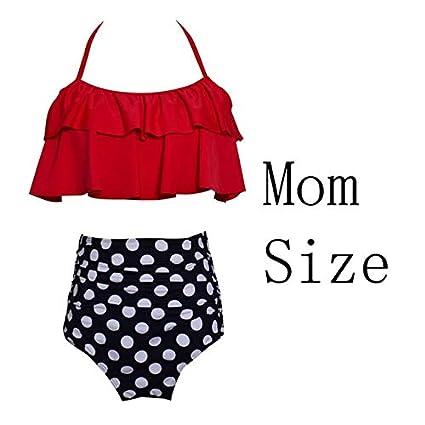 6acd902666 2019 Summer 2Pcs/Set Clothes Family Matching Swimwear Beach Kid Bikini  Bathing Swimsuit Brachwear Mother Girl Swimming Clothing : as Picture, ...