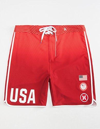 Hurley Phantom USA Olympic Team Swimwear Fashion Board Short - 6DL-Red - Mens - ()