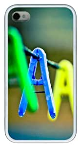 iPhone 4s Case & Cover - Clip Mood Custom Design TPU Case Cover for iPhone 4/4s White