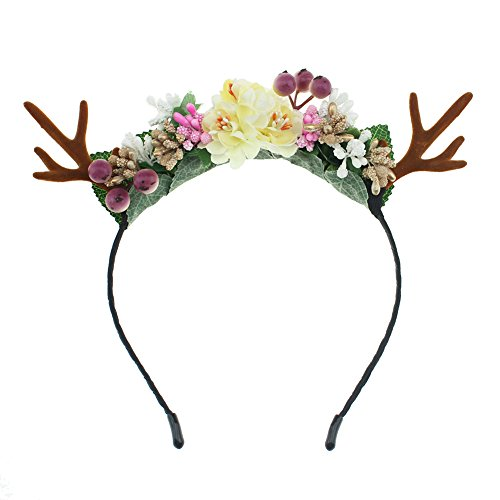 Lovemyangel Antlers Headbands Girl Adult Christmas Easter and Halloween Party Hair Accessoies (Fruit)]()