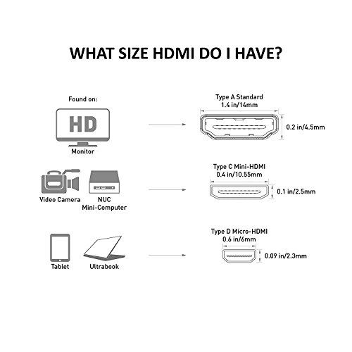 Cable Matters 2 Pack Micro HDMI to HDMI Adapter (HDMI to Micro HDMI Adapter) 6 Inches