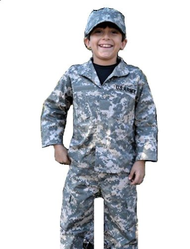 Child Army Uniform (Child / Youth 3 Piece Army ACU Camo Replica Uniform Set (Small)