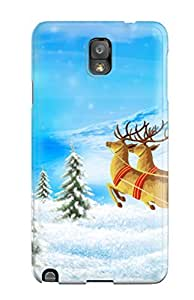 Durable Defender Case For Galaxy Note 3 Tpu Cover(santa Merry Christmas)