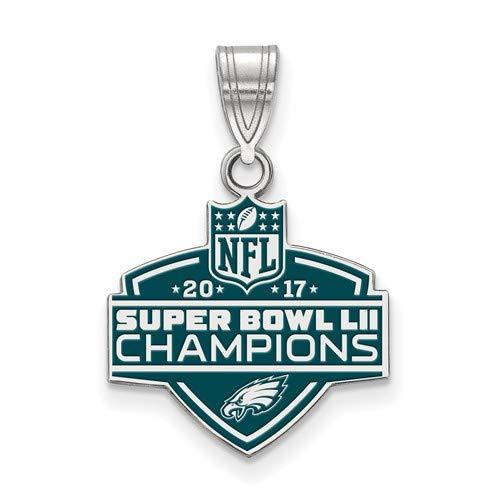 SS Philadelphia Eagles Super Bowl LII Champions Med Enamel Pendant