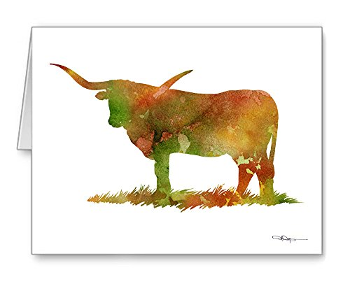 Texas Longhorn - Set of 10 Note Cards With Envelopes ()