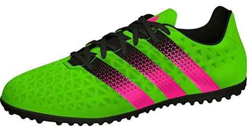 adidas Unisex Baby Ace 16.3 TF J Fußballschuhe Grün / Pink / Schwarz (Versol / Rosimp / Negbas)