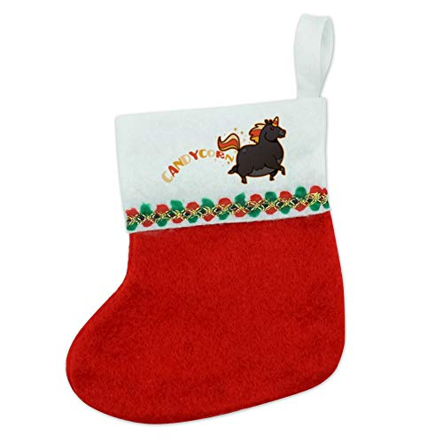 GRAPHICS & MORE Candycorn Candy Corn Unicorn Halloween Mini Small Christmas Holiday Felt Stocking -