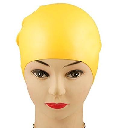 eDealMax Forma silicona blando en adultos domo Flexible Gorro de baño Sombrero 21,8 x