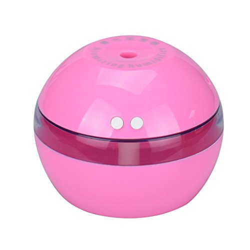 Winhurn Air Aroma Essential Oil Diffuser LED Ultrasonic Aroma Aromatherapy Humidifier (Pink)