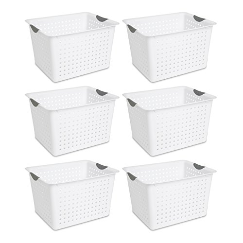 Tall Plastic Storage Bins Sterilite 16288006 Deep Ultra