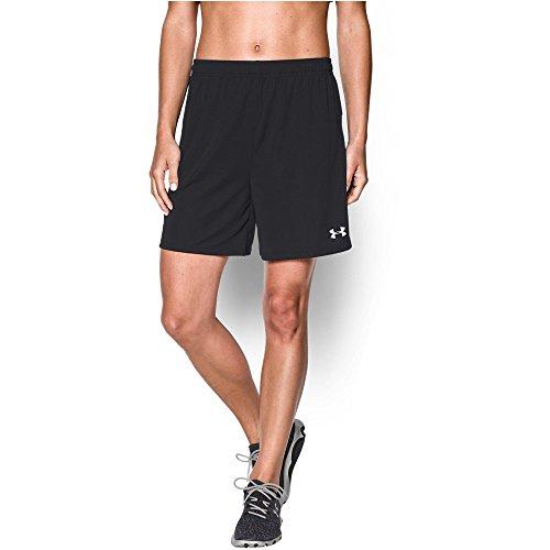 Under Armour Women's Golazo, Black/White, Small (Soccer Women Shorts)