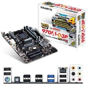 AMD Motherboard PC Parts Unlimited GA-970A-DS3P Gigabyte GA-970A-DS3P AM3+