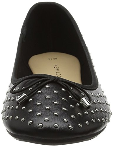 Ludd Black Flats Black New Look Ballet Women's HqzY8wO