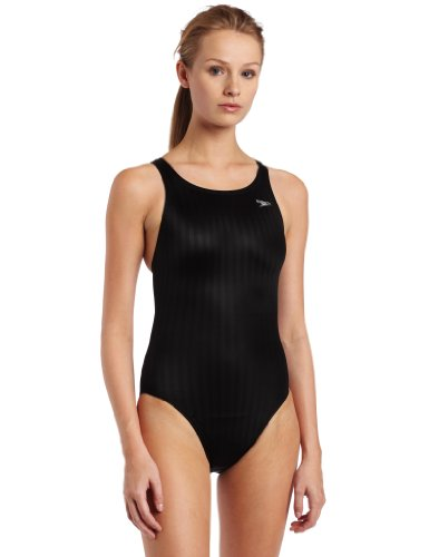 Swimsuit Womens Racing (Speedo Women's Race Lycra Blend Aquablade Recordbreaker Swimsuit,Black,36)