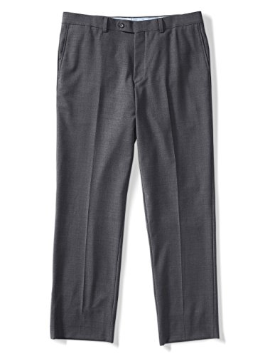 Jack Victor Pants (Jack Victor Riviera Traveler Big and Tall Flat-Front Pants, Grey 42 RG UNFINISH)