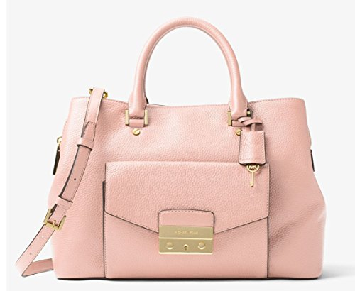 MICHAEL MICHAEL KORS Haley Large Leather Satchel in Blossom