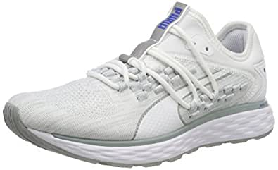 PUMA Women's Speed Fusefit WN's Wht-Quarry Shoes, Puma White-Quarry, 6 US