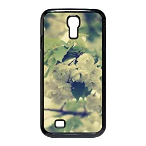 Jumphigh Apple Flower Samsung Galaxy S4 Cases White Apple Flowers, [Black]