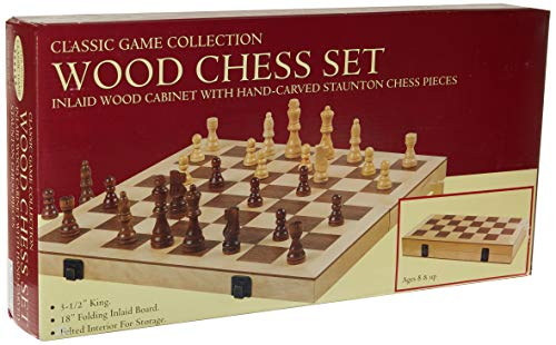 John N. Hansen Classic Game Collection Wood Chess ()