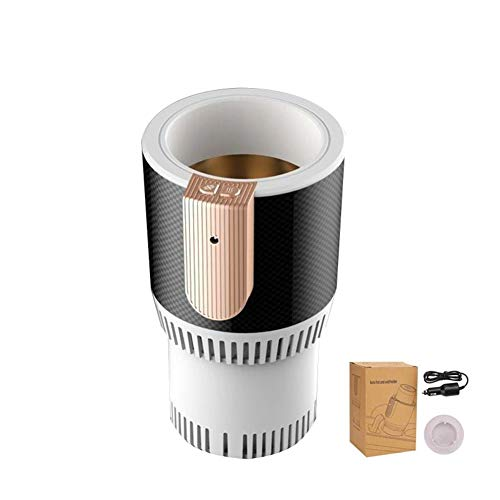 Car Heating Cup Cooler Warmer Cup Holder Electric Smart Cup Holder (White) ()