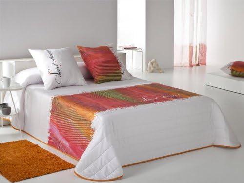Colcha bouti Sweet cama 90 cm Naranja: Amazon.es: Hogar