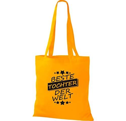 Bolso Tela Mejor Welt Amarillo Shirtinstyle Der Tochter De Dorado Algodón Bolsa fwqE7Xd
