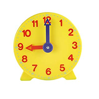 Fenfangxilas Teaching Clock Model, 10cm Two Pointer Clock Toy for Student Child, Early Education Learning Resources for Classroom 1#
