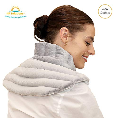 Shoulder Buddy Plus - Heating Pad for Neck & Shoulders, Microwaveable Relief Wrap with Lavender Aromatherapy for Neck Pain, Migraines, Headaches, Anxiety (Lavender Scent Plus) ()