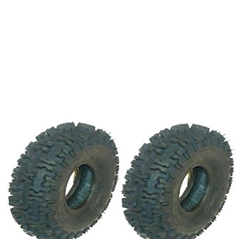 (2 Pack) 8006 Rotary Snow Hog 410x4 Tubeless Tires 2 Ply Replaces Carlisle