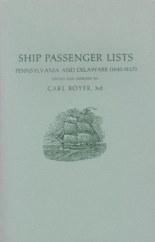 Ship Passenger Lists: Pennsylvania and Delaware - Delaware Westminster