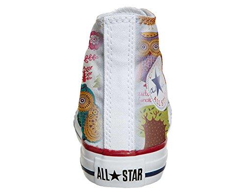 Converse PERSONALIZZATE All Star Hi Canvas, Sneaker Uomo/Donna (Prodotto Artigianale) Autumn Forest