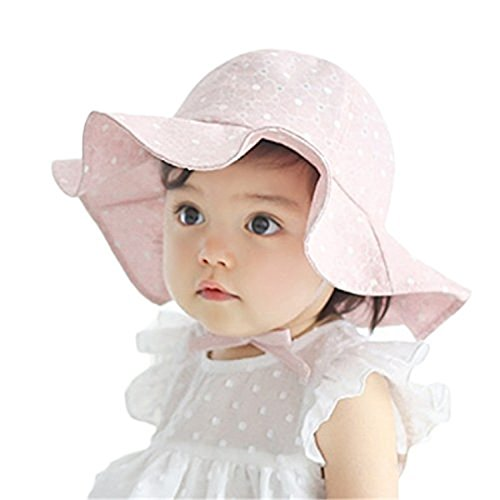 Baby Girl Toddler Kids Sun Hat Summer Outdoor Sun Protection Hat 1-4 Years (Pink)