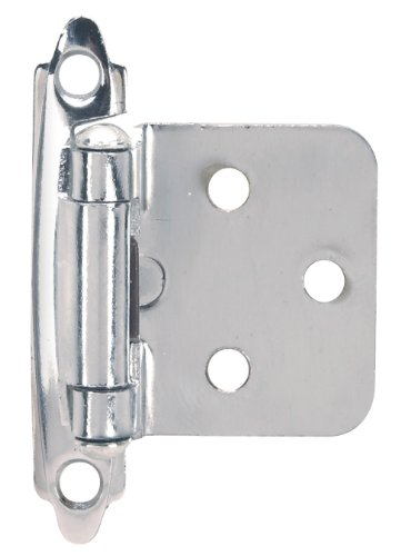 Cabinet Hinges Chrome (Hardware House 64-2843 Flush Mount Self-Closing Cabinet Hinge, 2-Pack, Chrome)