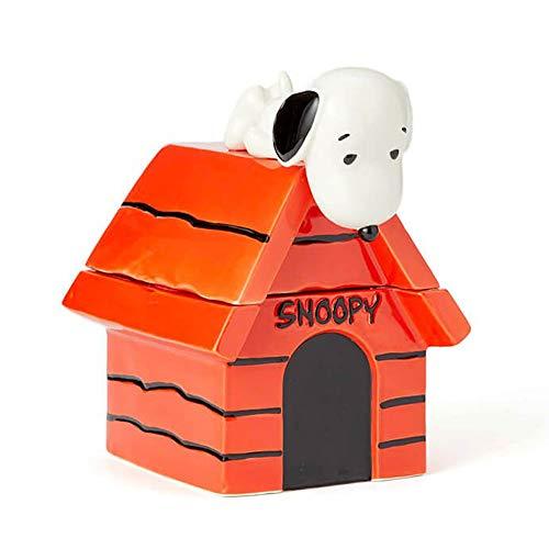 Enesco 6004161 Peanuts Snoopy on Dog House Cookie Jar 10