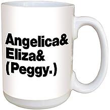 Hamilton Coffee Mug Angelica Eliza And Peggy - Large 15 Ounce Ceramic Mug