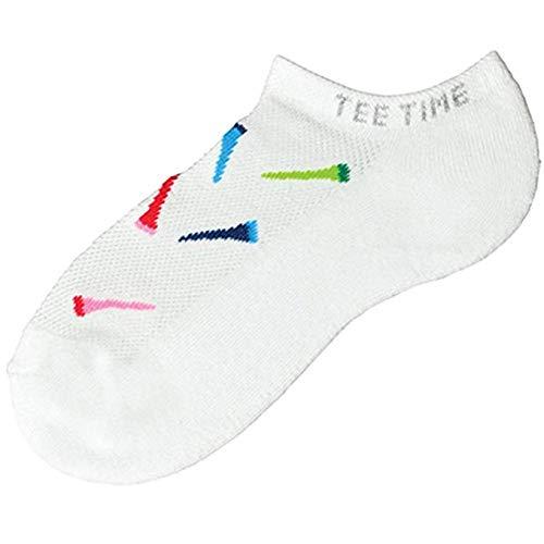 K. Bell Womens Tee Time Socks, 9-11, White ()
