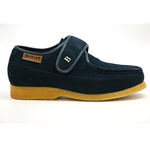 British Collection Royal Old School Slip On Shoes 9.5M Navy Leather by British Collection (Image #4)