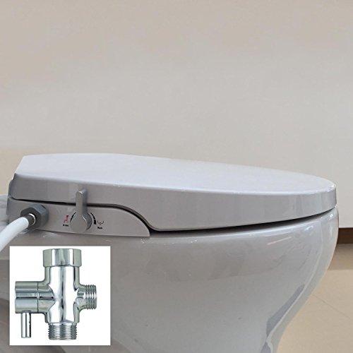 Hibbent Elongated OB106 Non Electric Toilet Bidet Seat wi...